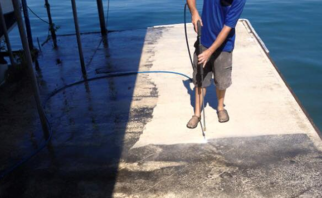 Pressure Washing Service To The Water