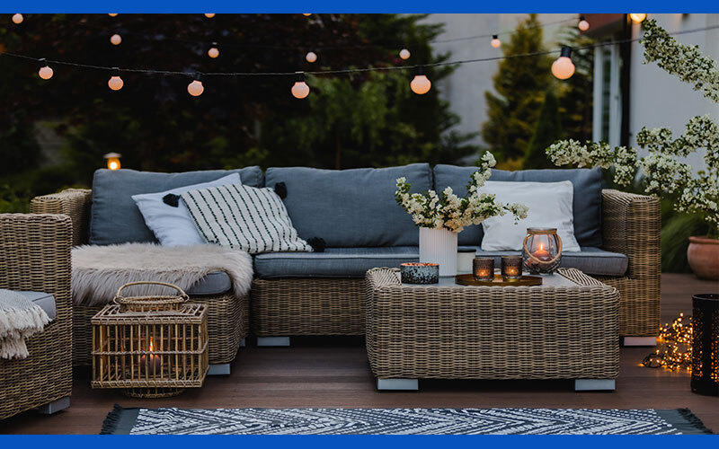 entertaining outdoor space